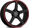 Диск литой 17x7.0J  5x108 MR116 Black Red Stripe Motegi Racing  ET40 / 72.56